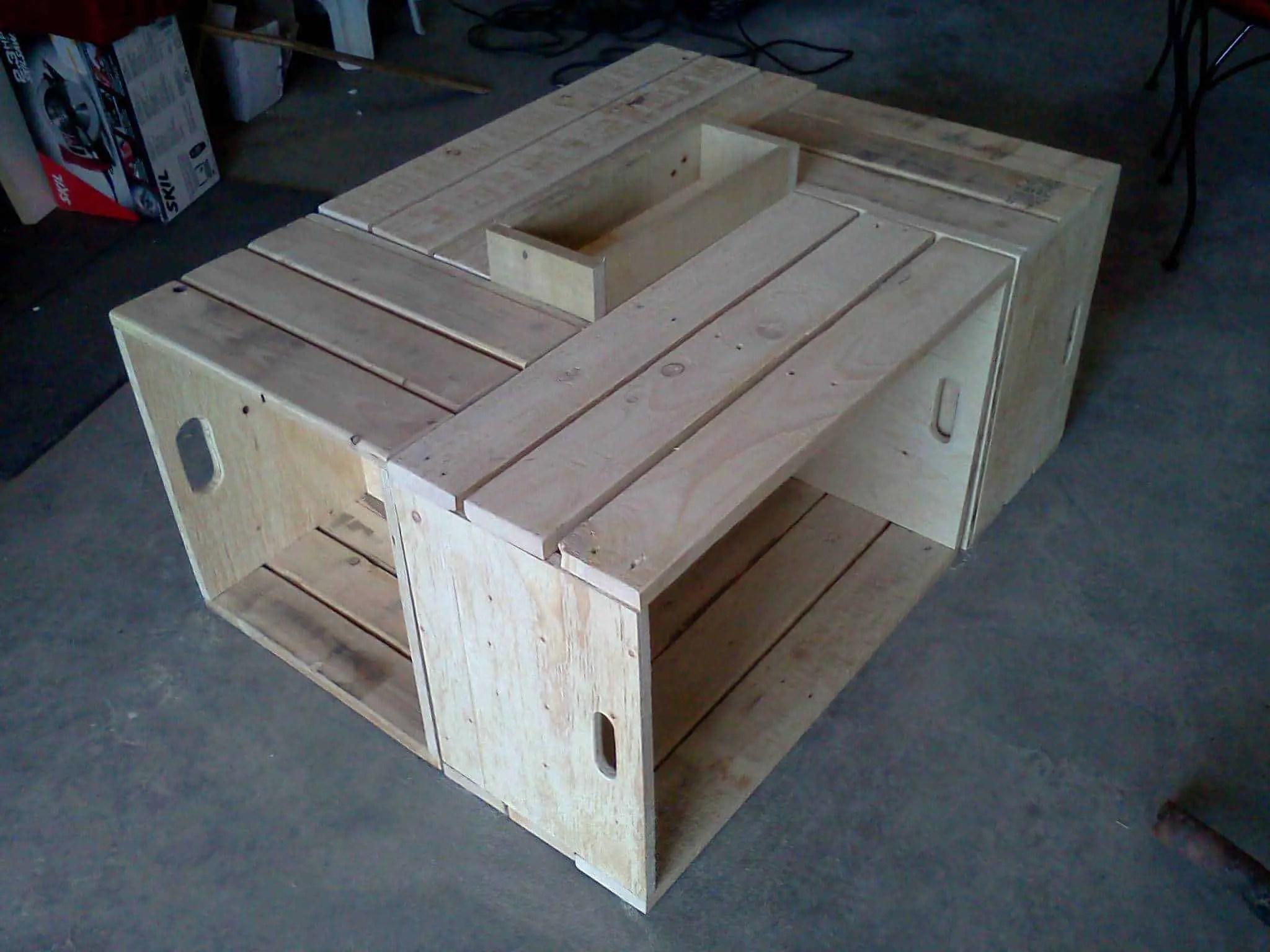 Table Basse Pour Le Salon En Bois De Palettes  Recycled