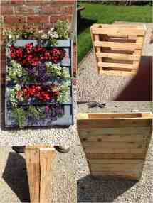 Homemade Vertical Pallet Planter 1001 Pallets