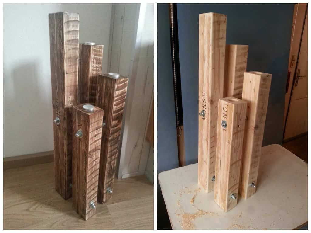 Chandelier Made Out Of Recycled Pallets 1001 Pallets