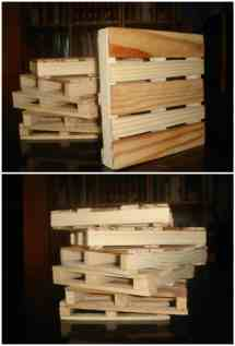 Coasters Recycled Pallet Wood 1001 Pallets