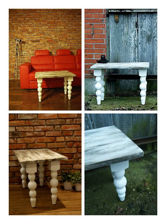 Shabby Chic Table Top From Recycled Pallet Wood 1001 Pallets