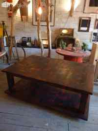 Table Basse Bois De Grosse Palette / Coffee Table With ...