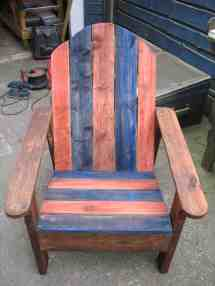 Adirondack Chair Two Upcycled Pallets 1001