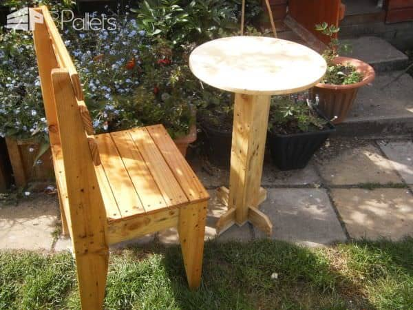 bistro tables and chairs how to repair patio chair straps pallet table 1001 pallets traveler digital camera