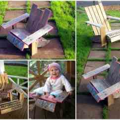 Diy Adirondack Chair Kit And Ottoman Slipcover Mini Pallet Guide  1001 Pallets