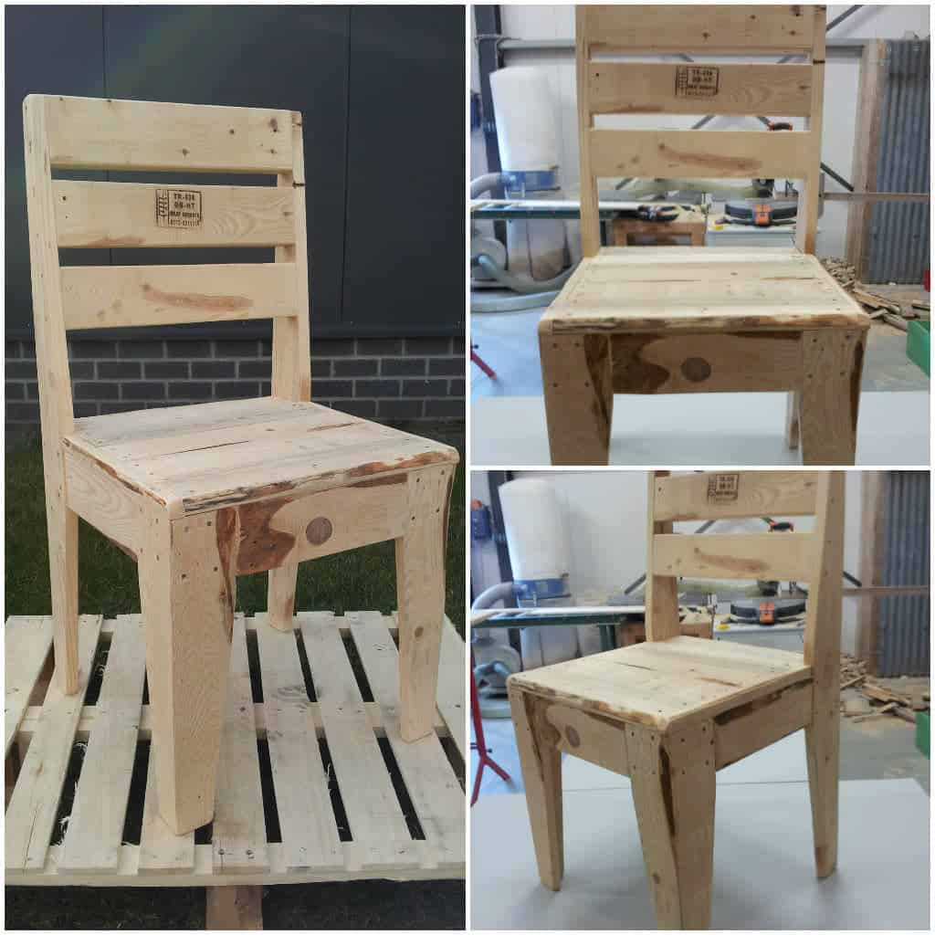 pallet wood chair plastic covers for chairs upcycled  1001 pallets