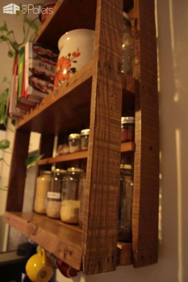 tagre De Cuisine En Palette  Kitchen Pallet Shelf