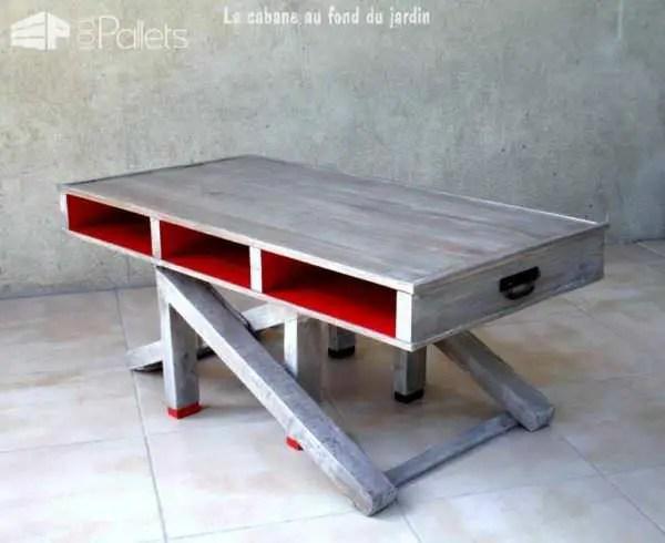 Great Table Basse Et Haute By En Bois De Palettes Modular