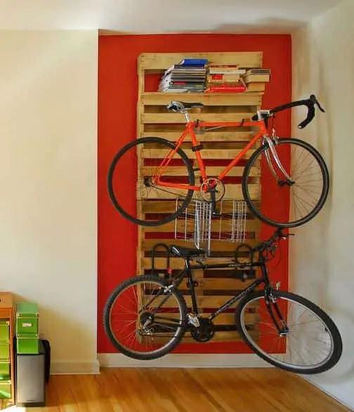 own pallet bike rack 1001 pallets