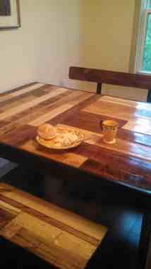 Kitchen Table & Benches Repurposed Pallets 1001