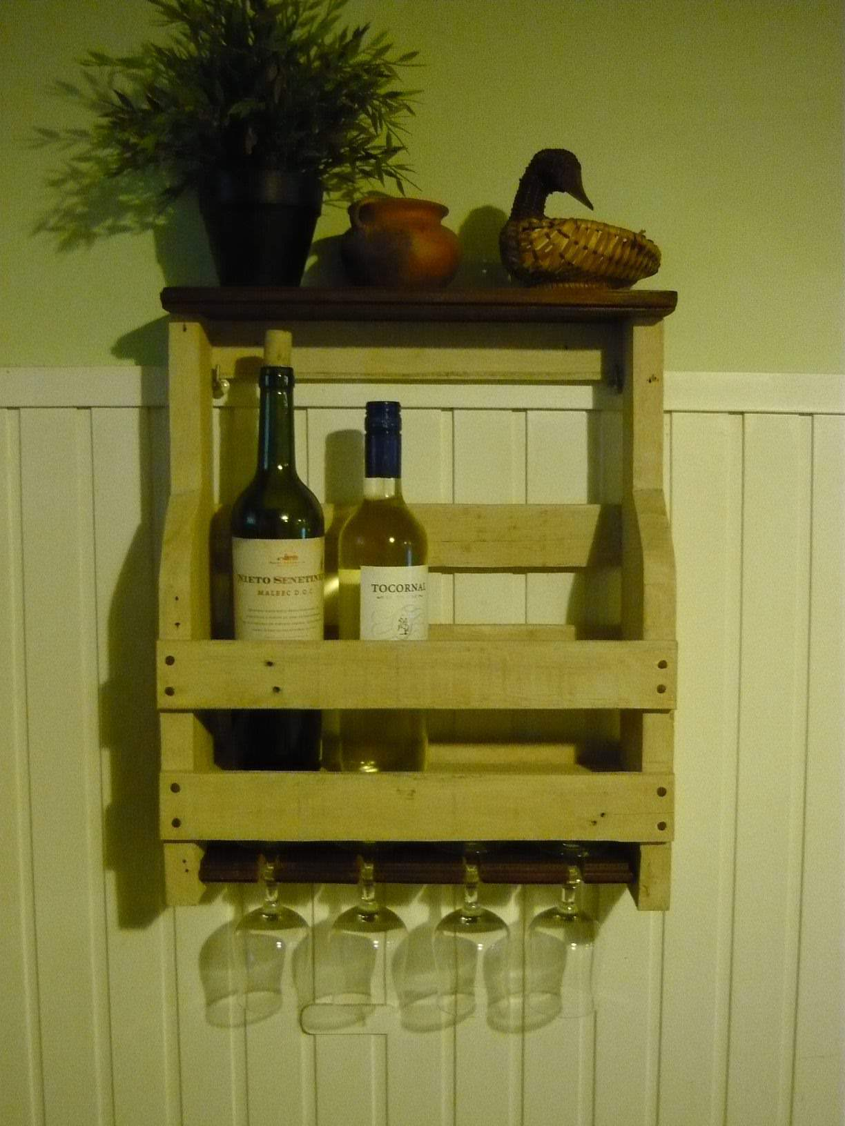 kitchen wine rack how much to replace cabinets porta botellas de vino y copas / pallet • 1001 ...
