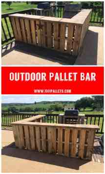 Outdoor Pallet Bar 1001 Pallets