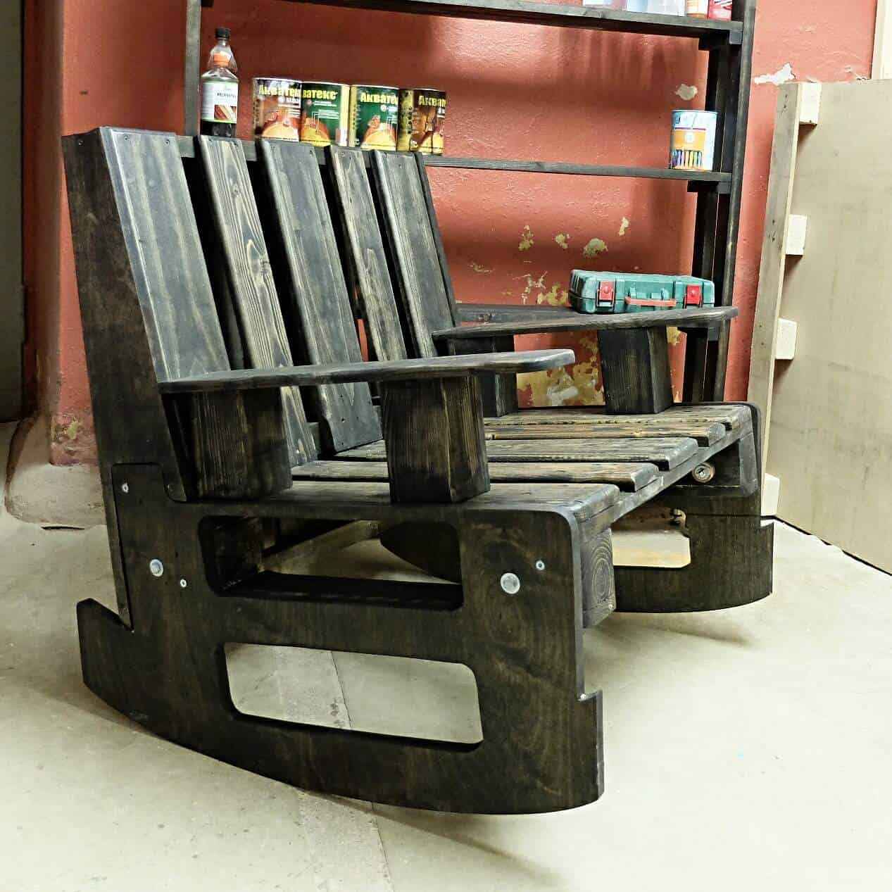 diy pallet rocking chair plans target kids chairs 2 pallets  1001