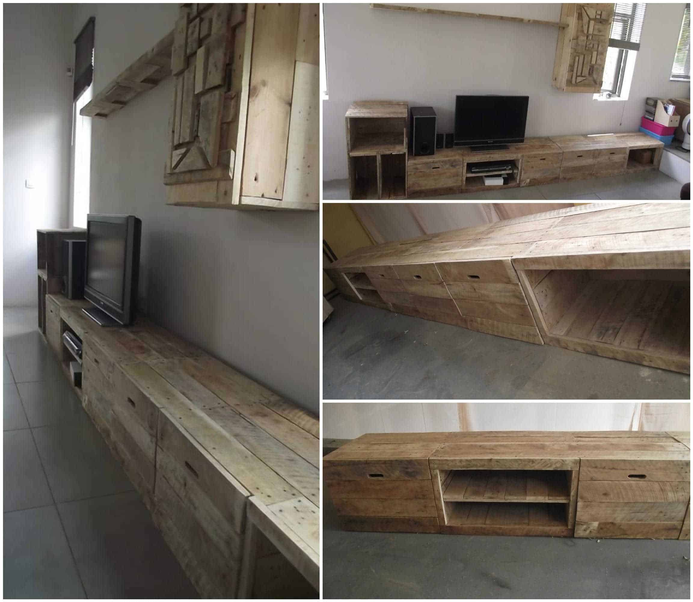 long design pallet tv stand