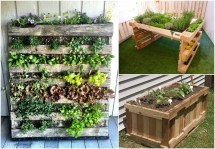 Reusing Pallets Garden Projects 1001