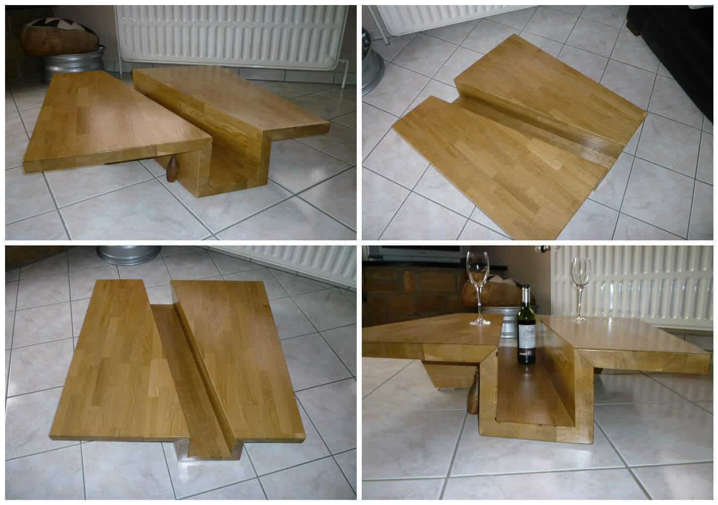 Table Basse Ch 234 Ne Massif Lamell 233 Coll 233 Solid Glulam Oak