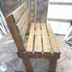 Wood Lounge Chairs Plans White Slip Covered Dining Room Diy: Bench From 2 Pallets • 1001