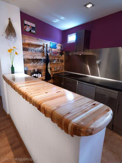 Kitchen Makeover with Stainless Steel and Recycled Pallets