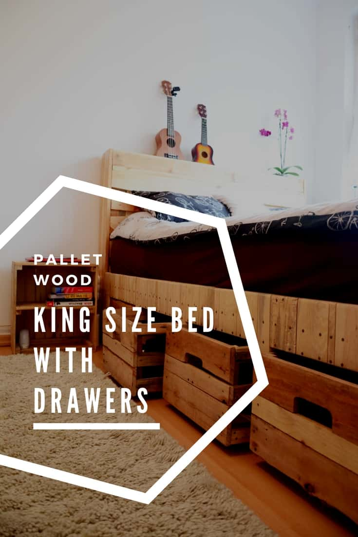 frames for living room walls french country rooms images pallet wood king size bed with drawers & storage • 1001 ...