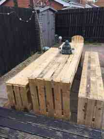 Patio Table & Bench Seats 1001 Pallets