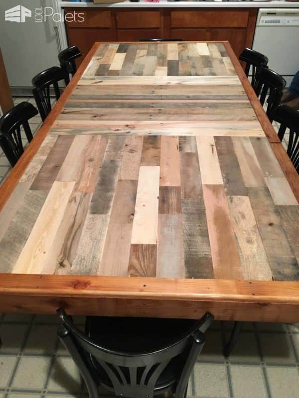 Stunning Pallet Dining Table  1001 Pallets