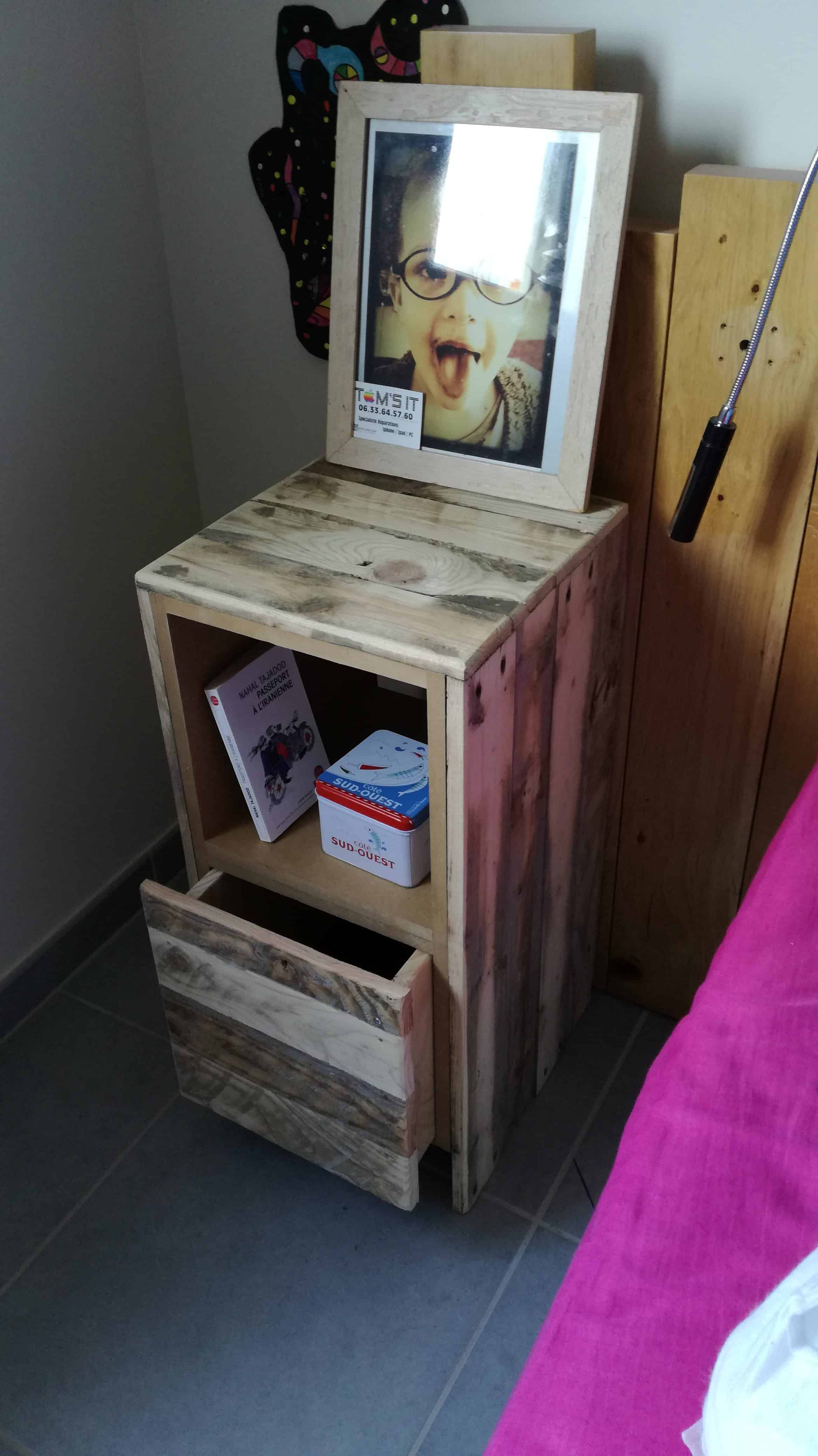 Table De Nuit Pallet Bedside Table 1001 Pallets