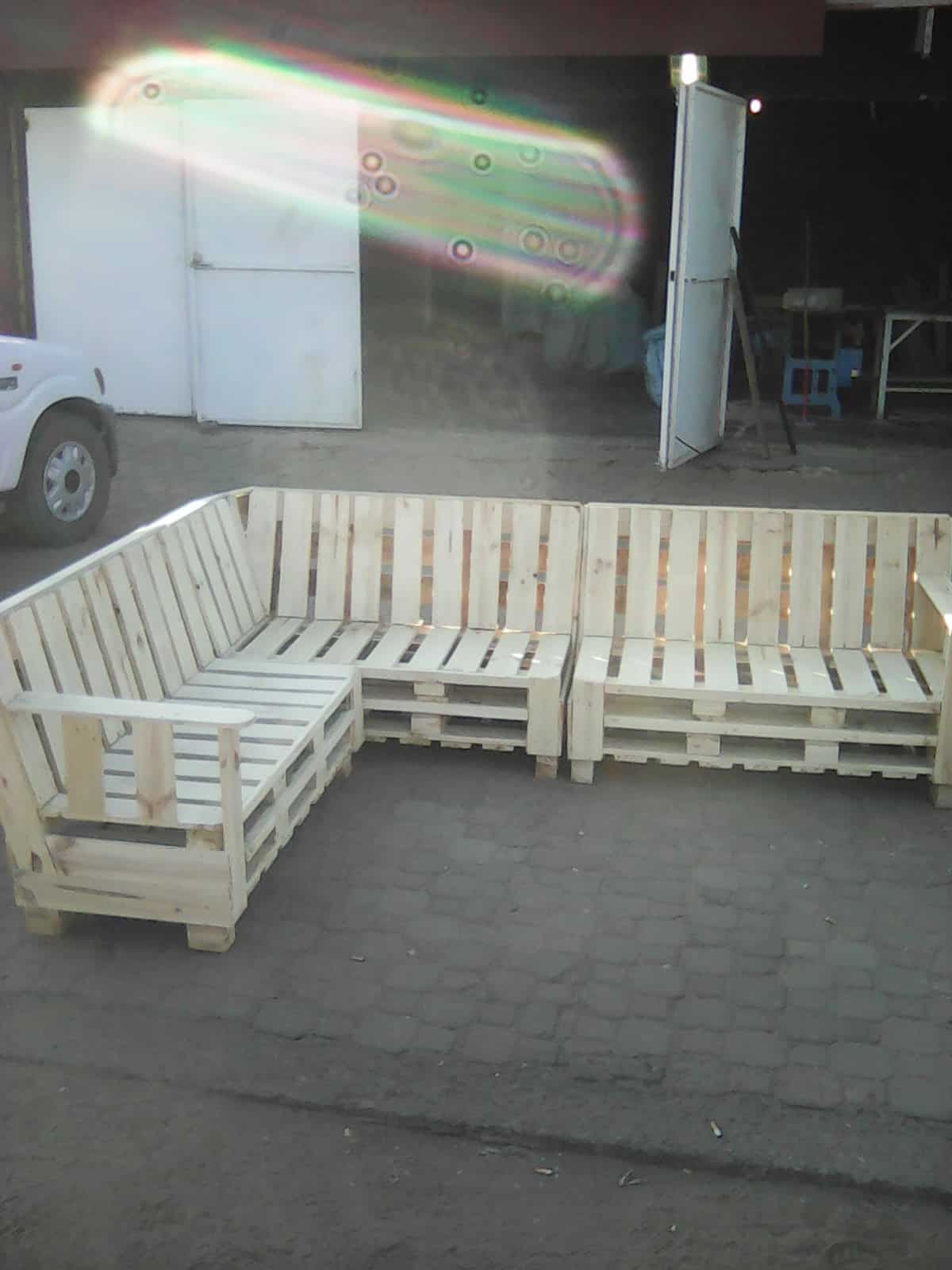 diy sofa from pallets beige tufted toronto pallet sectional  1001