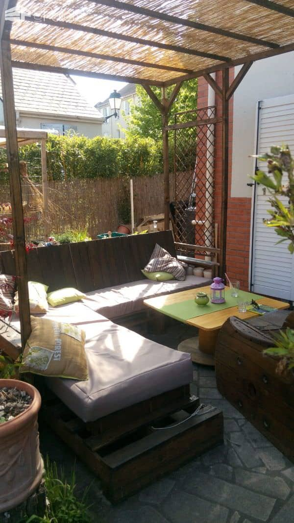 Pergola Addition to Our Pallet Lounge Set  1001 Pallets