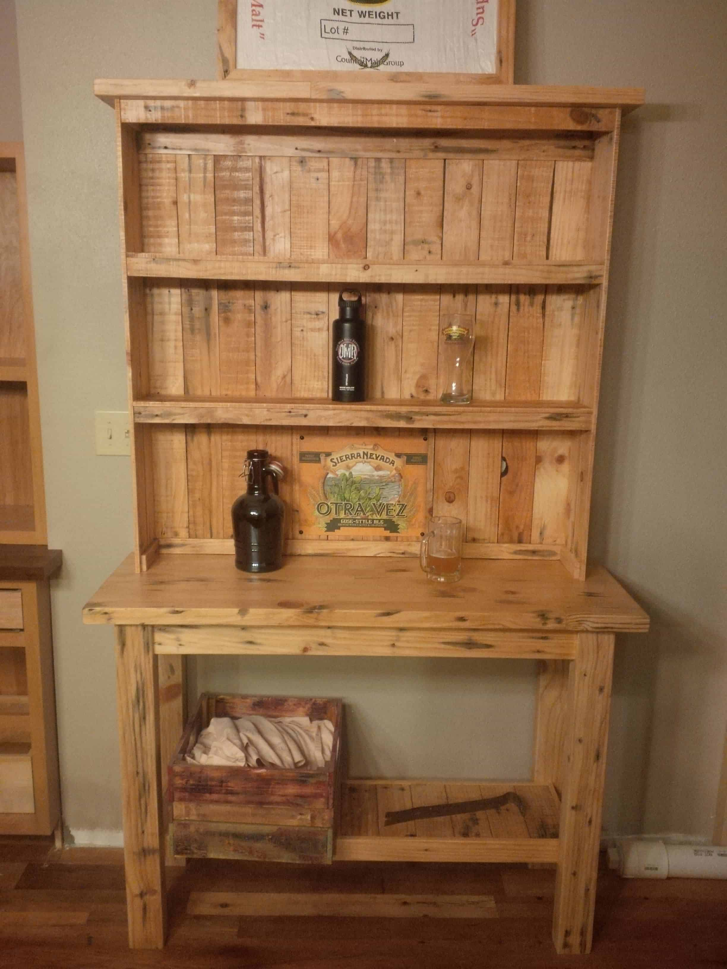 diy dining room chairs plans grey office chair all pine two-piece pallet beer hutch • 1001 pallets