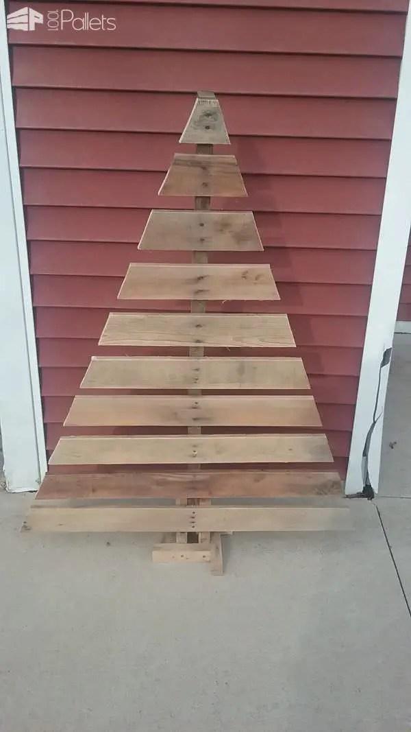 Easy Pallet Christmas Tree Under 15 Bucks 1001 Pallets