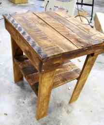 Pallet Wood End Table Lower Shelf 1001 Pallets