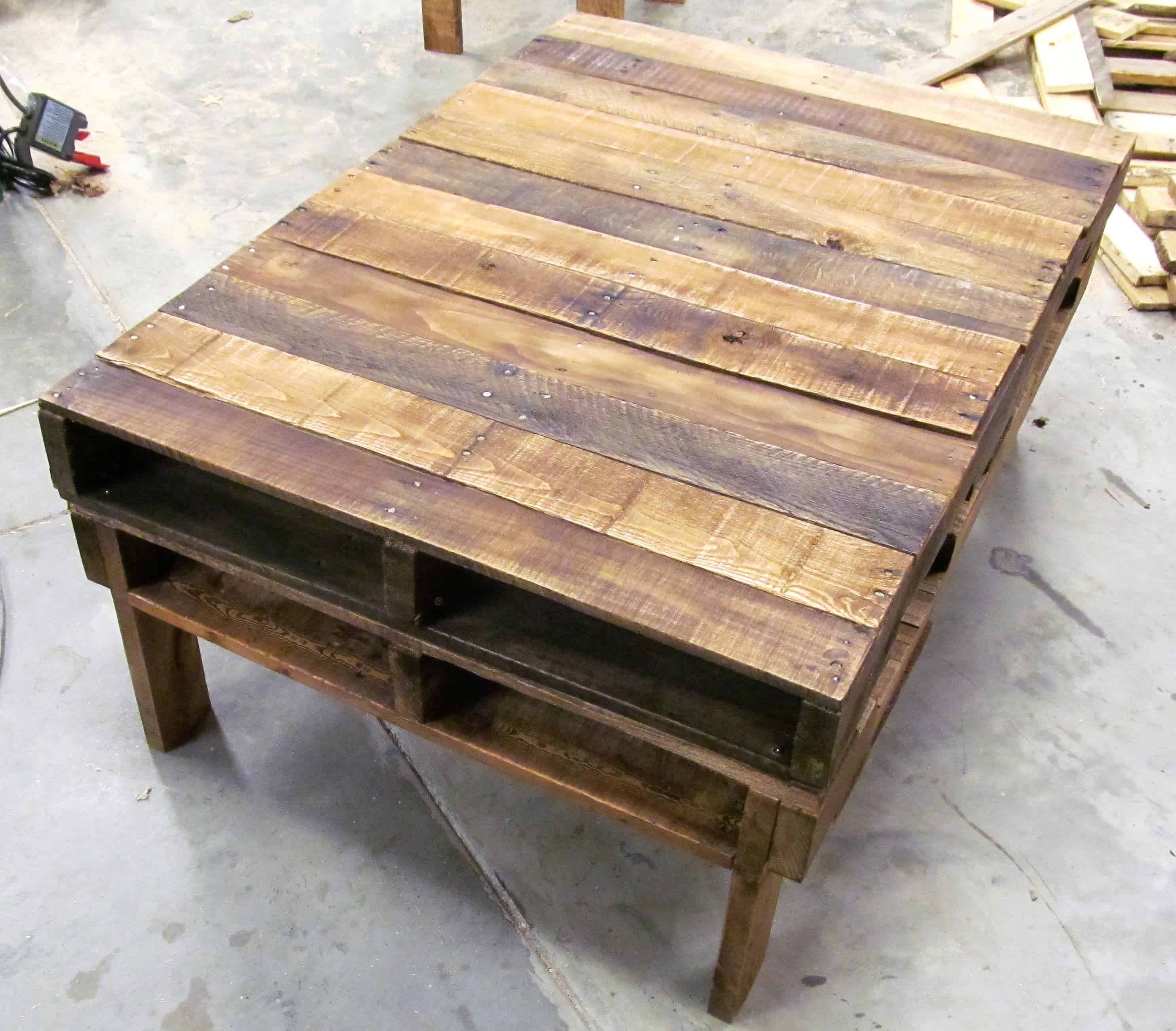 s two pallet rustic pallet coffee table