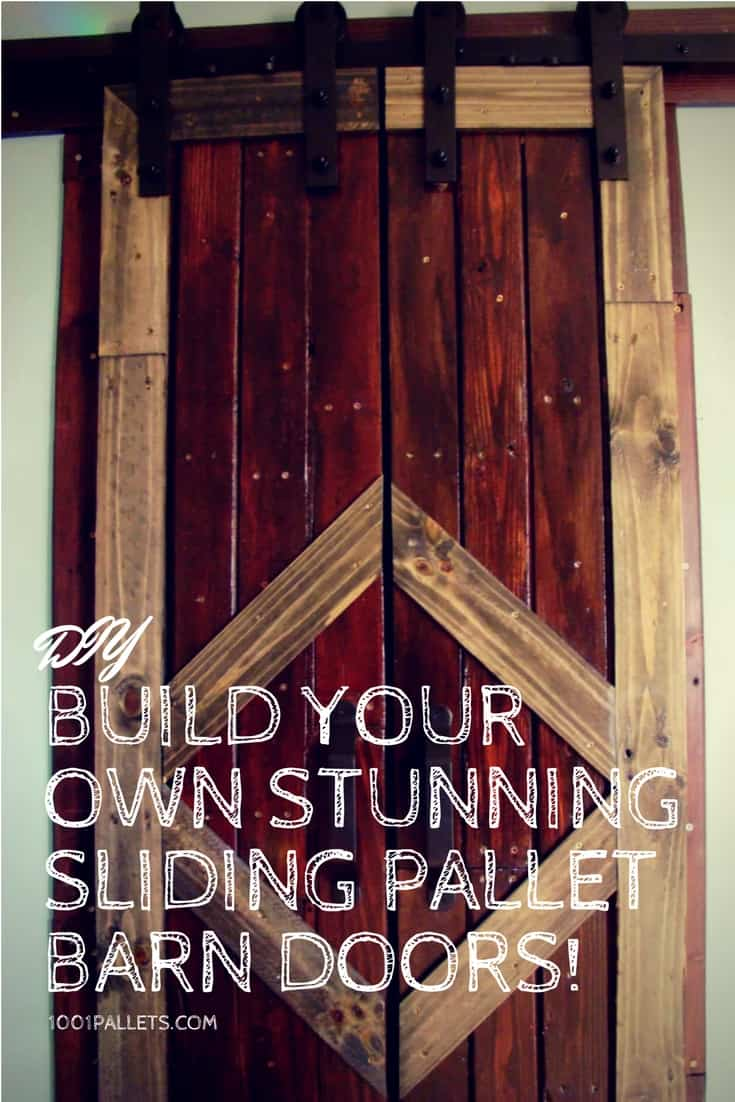 building your own kitchen cabinets gray mat build stunning sliding pallet barn doors! • 1001 ...