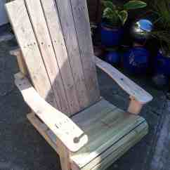 Diy Living Room Furniture Plans Animal Print Chairs Standard Pallet Adirondack Chair Made Using Jigsaw! • 1001 ...