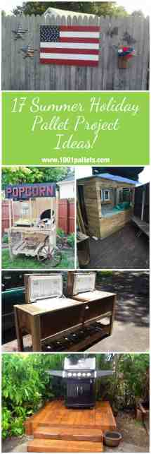Summer Holiday Pallet Project Ideas 1001 Pallets