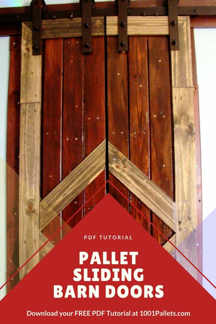 kitchen shelves ideas island chandeliers diy pdf tutorial pallet sliding barn doors • 1001 pallets ...