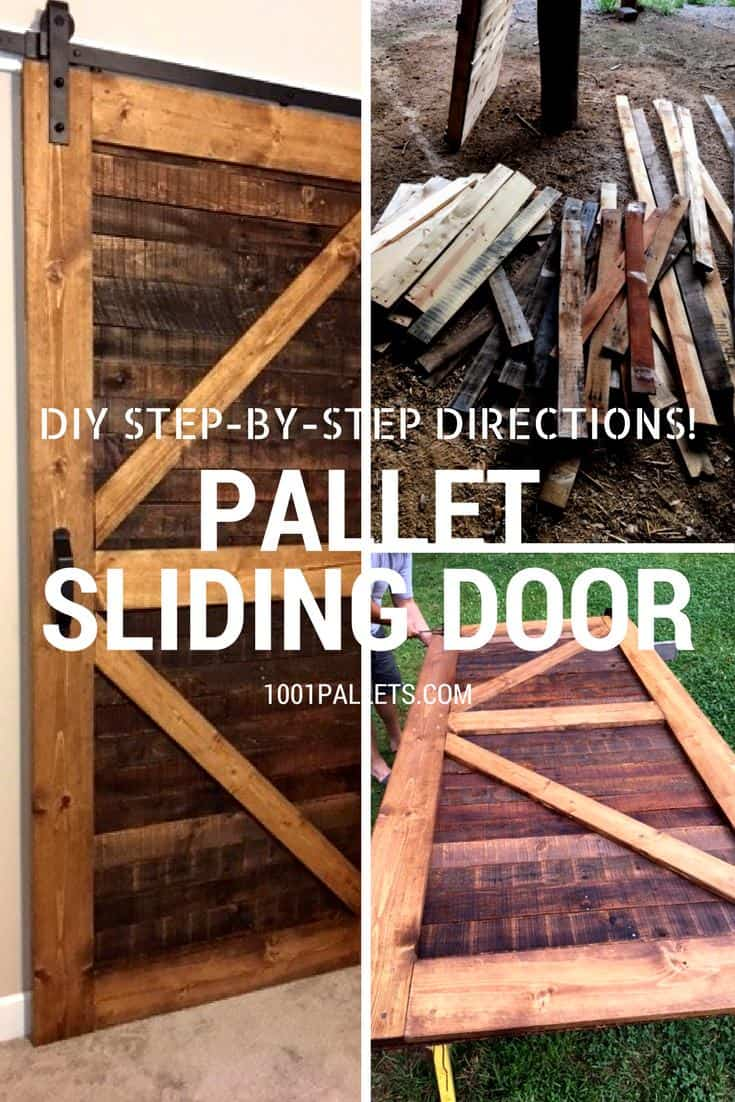 diy dining room chairs plans office chair without wheels stylish rustic sliding pallet interior door • 1001 pallets