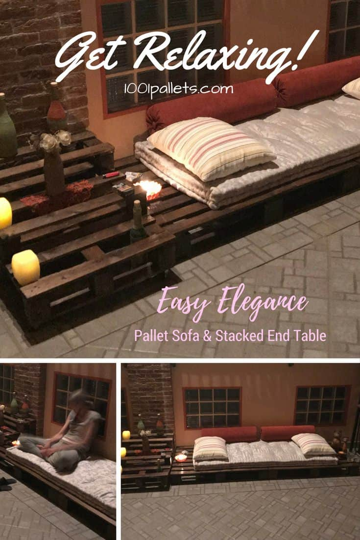 diy sofa from pallets tonino lamborghini pallet couches outdoor furniture 1001 this lounger features stacked end table