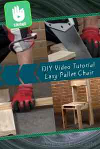 Diy Video Tutorial: Simple Pallet Chair!  1001 Pallets