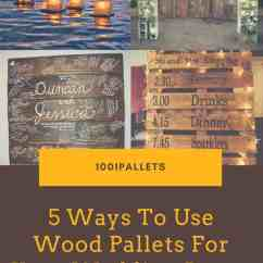 Diy Dining Room Chairs Plans Butterfly Target 5 Ways To Use Wood Pallets For Your Wedding Decor • 1001