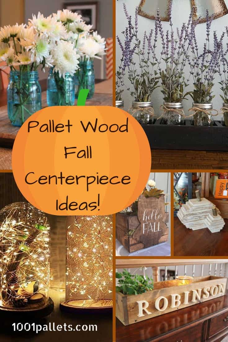 diy pallet living room furniture best color schemes for rooms 6 fall centerpiece ideas that will brighten ...