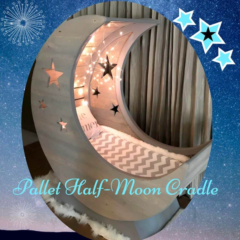 Starry Night Pallet Halfmoon Cradle  1001 Pallets