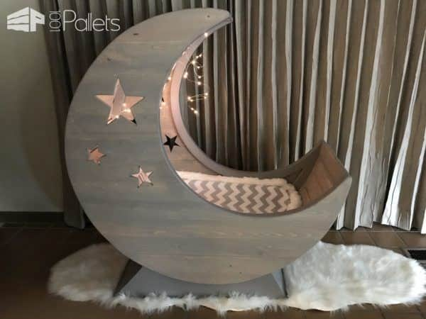 plans for adirondack chair hanging wicker egg with stand starry night pallet half-moon cradle! • 1001 pallets