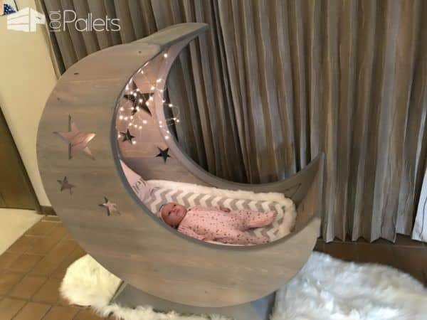 white wire chair tattoo client starry night pallet half-moon cradle! • 1001 pallets