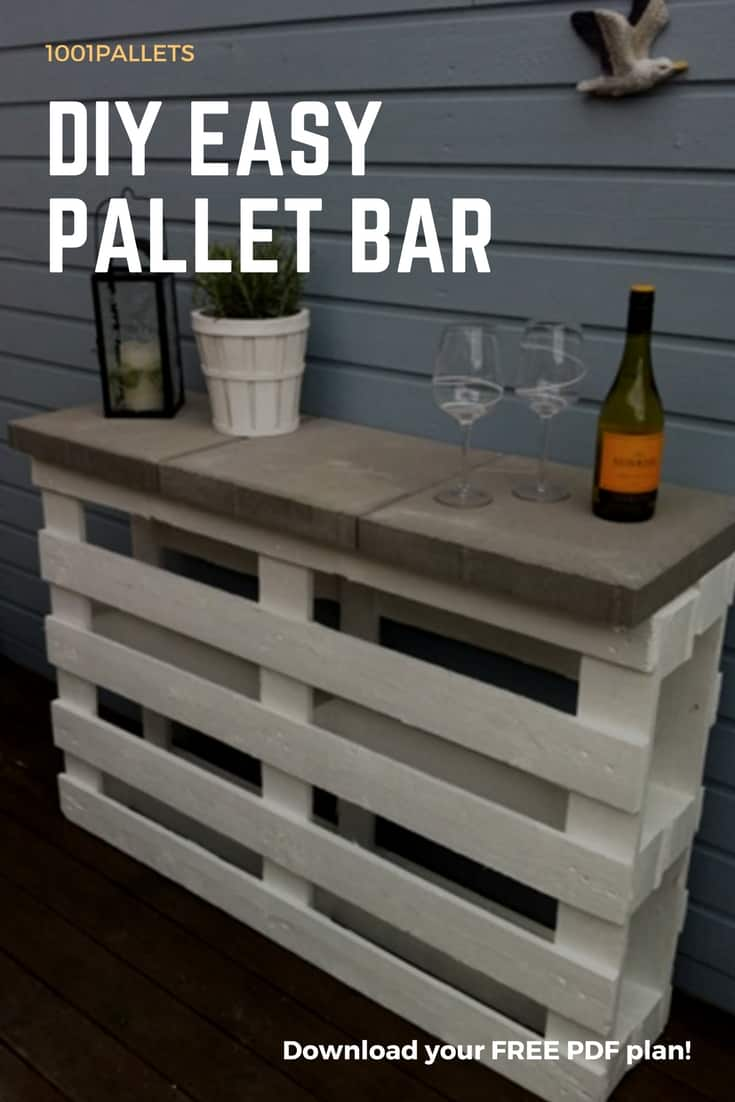 DIY Easy Pallet Bar Plans  Free Pallet Tutorials  1001 Pallets