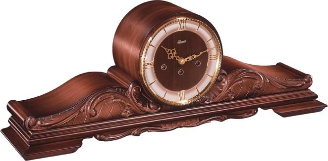 pendule a poser mecanique de style en bois cisele queensway