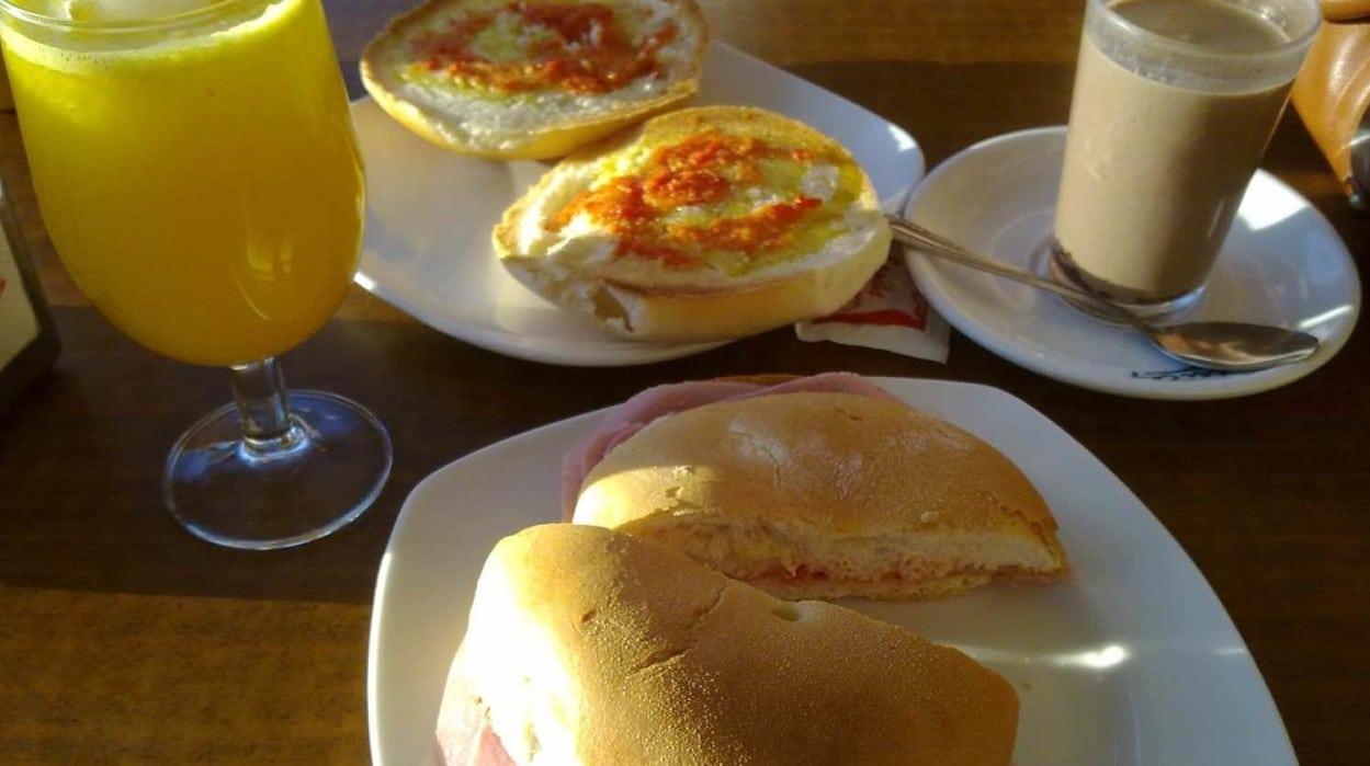 El desayuno en español. Desayuno Espanol Tipico