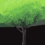 遠景用の木(書き割り)