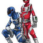 バイトメンの赤と青