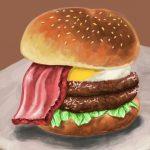 ハンバーガー食べたい。